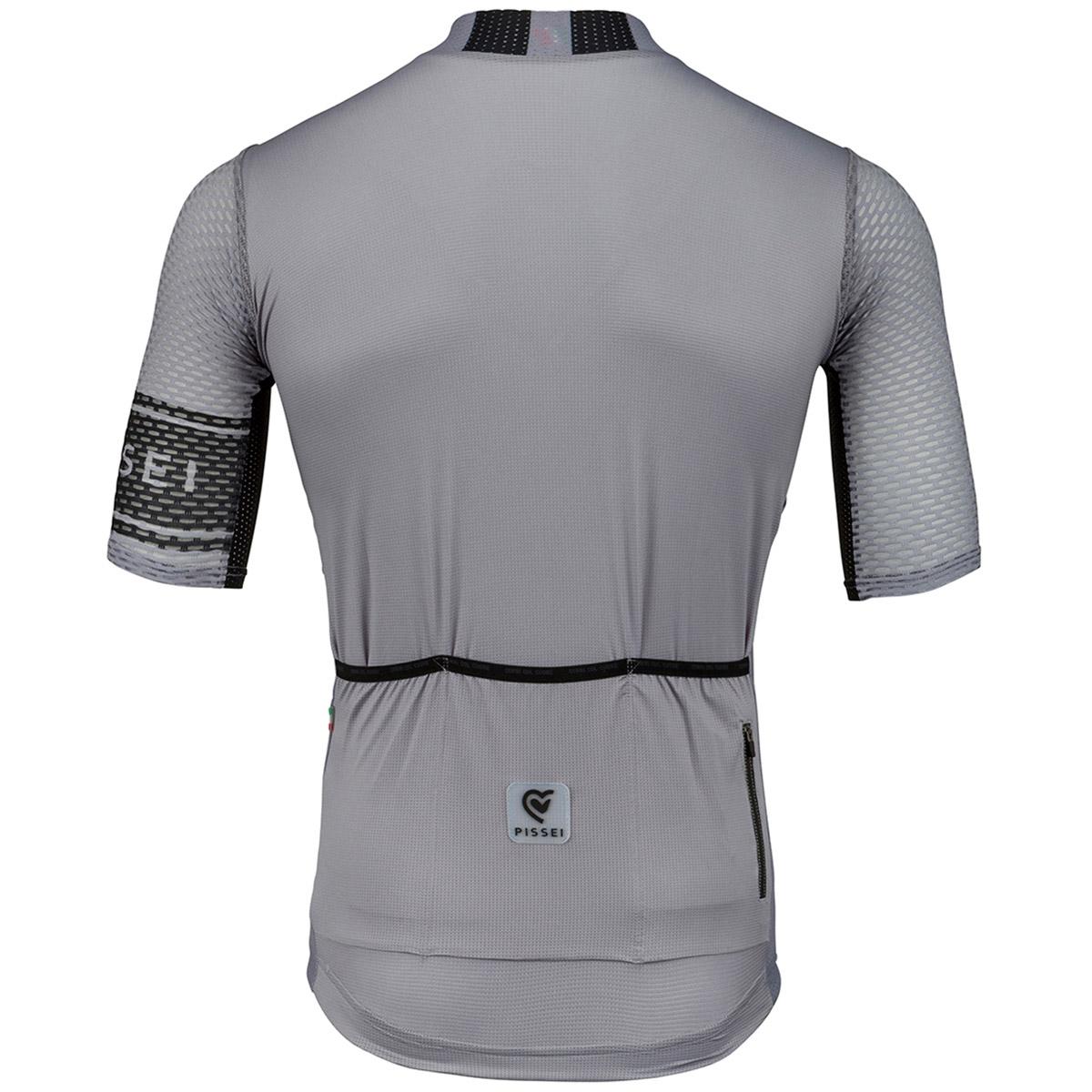 Maglia manica corta Pissei Sanremo Striped grigio nero - retro