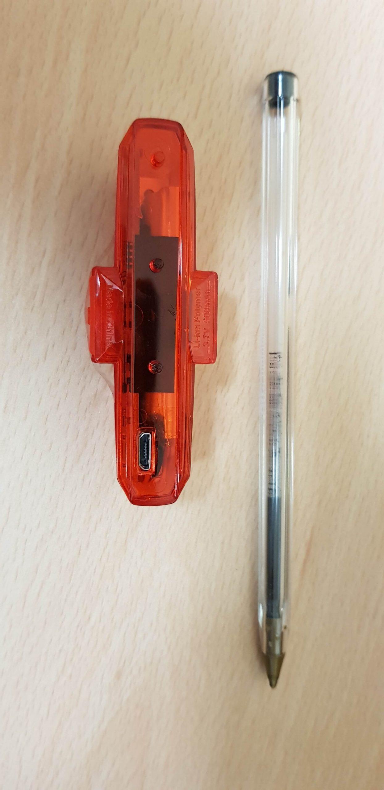 Luce posteriore led ApaceVision GuardG3X - dimensioni posteriore
